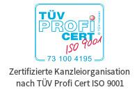 TÜV Profi Cert ISO9001