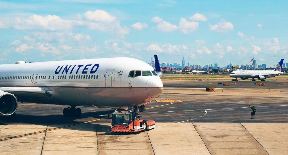 United Airlines Flugzeug