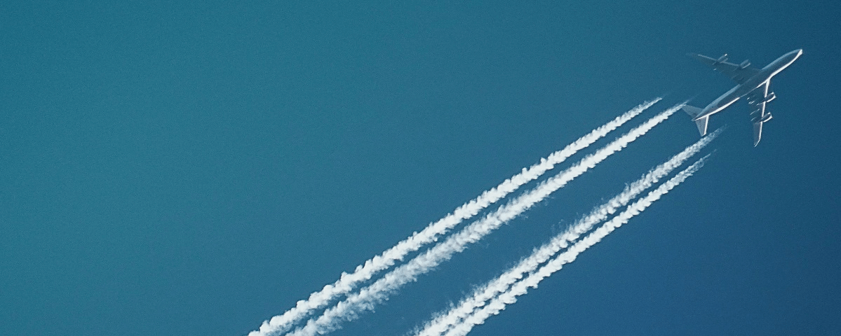 flugscham - kondensstreifen